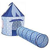 Kids Concept Sweden Pop Up Laktalt Play Tent & Laktunnel Play Tunnel Blue Star