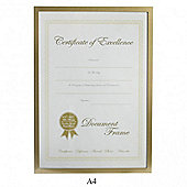 Lamboro Deluxe Certificate Photo Frame - Gold