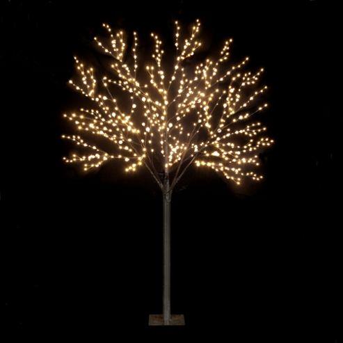 220cm/7ft Dual Size Globe Tree With 500 Warm White LEDs