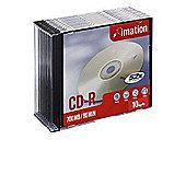 Imation 700 MB 52x 10-pack Slim Jewel Case CD-R