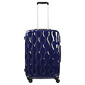 Tesco 4-Wheel Gloss Suitcase, Navy Blue Large