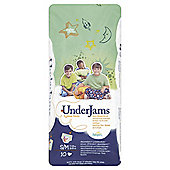 Pampers UnderJams Pyjama Pants - Boy - Size 7 - Small/Medium - 10 Pack