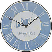 Roger Lascelles Clocks La Source Wall Clock in Blue and White