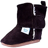 Dotty Fish Soft Suede Boots - Brown - Brown