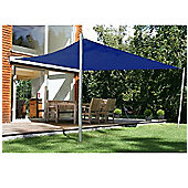Outsunny 4m x 3m RectangleSail Shade Awning with Ropes In Navy Blue