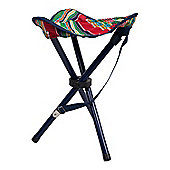 Outdoor Foldable Steel Patterned 3-Legged Portable Festival Camping Stool