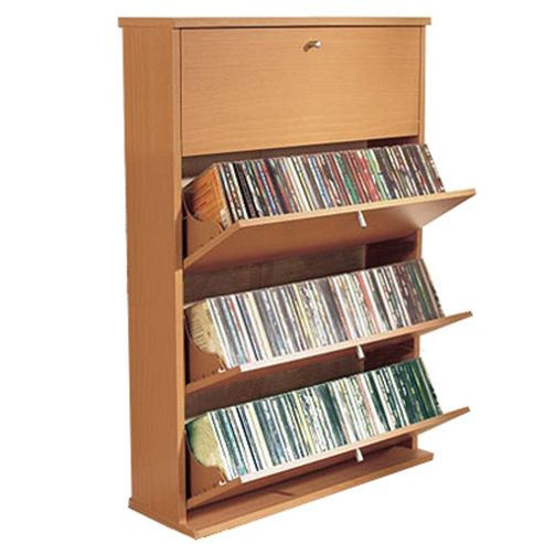 Techstyle Media Storage Cupboard - Beech
