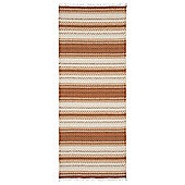 Swedy Malva Orange / White Rug - Runner 60 cm x 200 cm (2 ft x 6 ft 7 in)