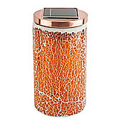 Tesco Orange Mosaic Solar Table Jar