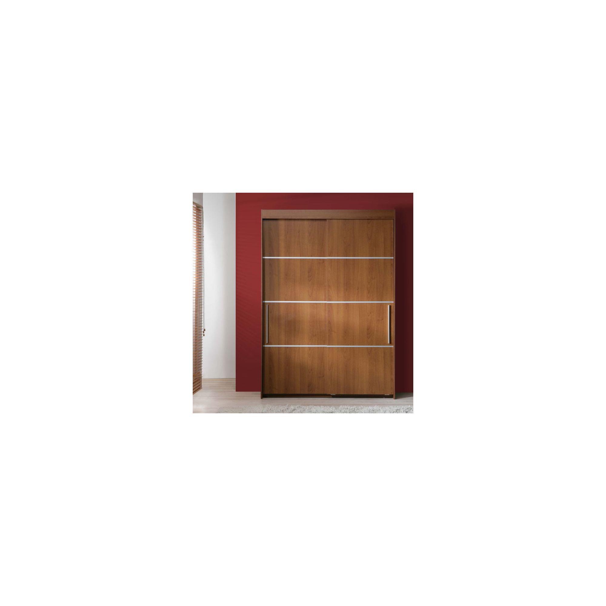 Ideal Furniture Nikko Slider Wardrobe in Walnut at Tescos Direct