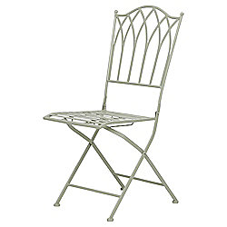 Ornate Metal Folding Bistro Chair