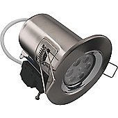 Kosnic LED 7.5W Dimmable Fire Rated Downlight - Brushed Nickel