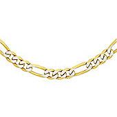 """9ct 2 Colour Gold Figaro Chain 46cm/18"""""""