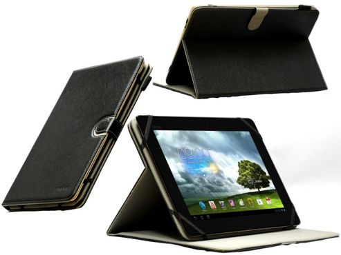 Navitech Black Faux Leather Case Cover With Stand For The Asus Memo Pad 10 ME301T