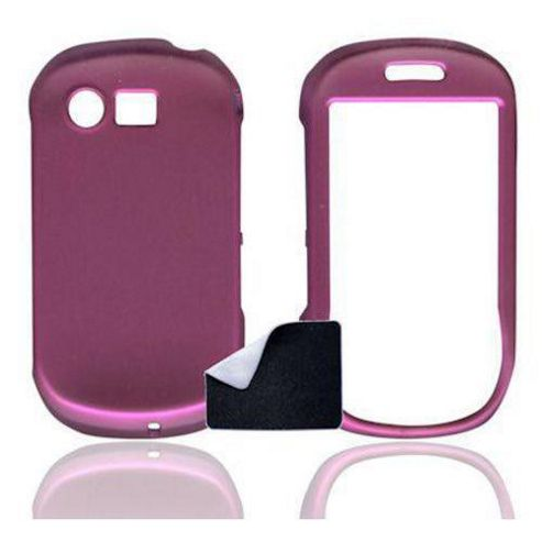 U-bop ShadowSHELL Rubberised Full-Body Case and StampWIPE Charcoal Pink - For Samsung Genoa C3510