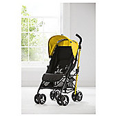 Tesco Easy fold Pushchair, Yellow & Black