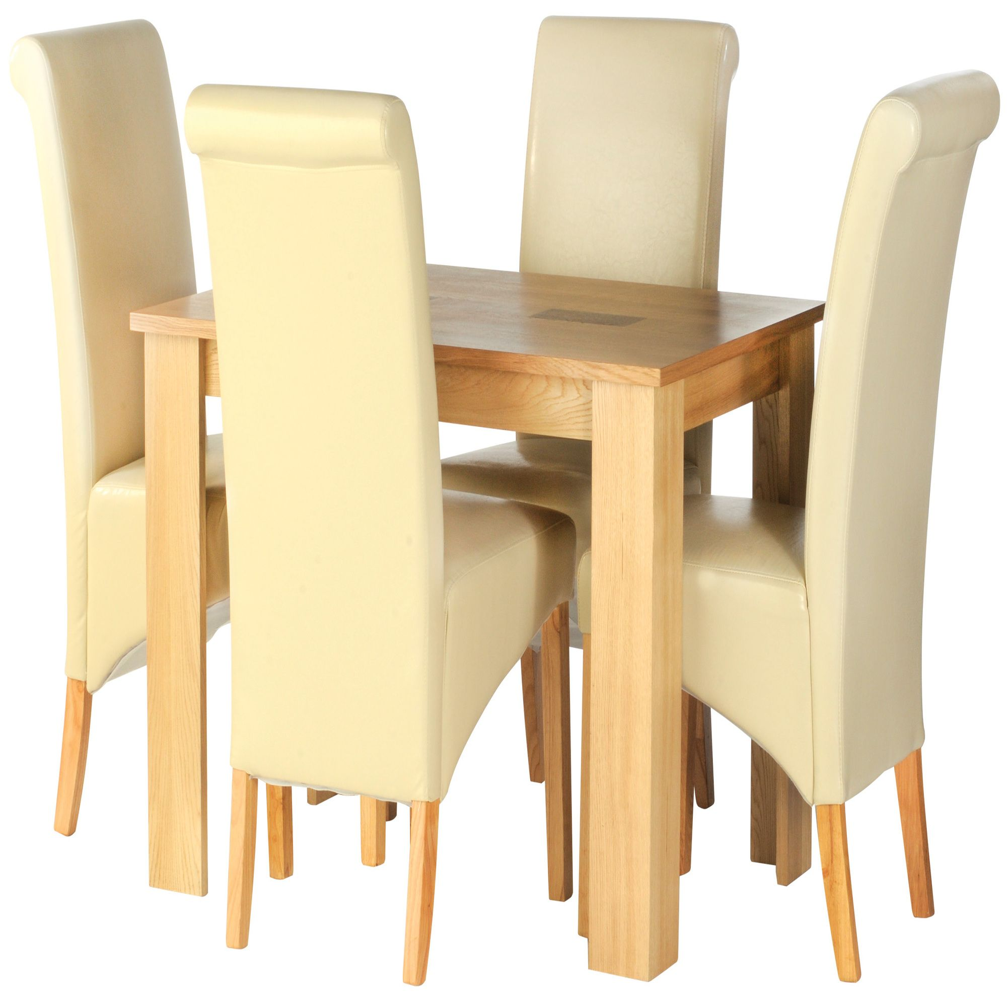 Thorndon Wellington 5 Piece Dining Set Natural Light Oak and Walnut at Tesco Direct