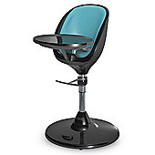Brother Max Scoop Black Highchair + Seat Insert (Aqua)