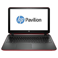 "HP Pavilion 15-p293na 15.6"" Notebook, HP Hexa-Core, 8GB RAM, 1TB - Red & Silver"