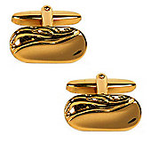 Gold Plated Ripple Dress Cufflinks