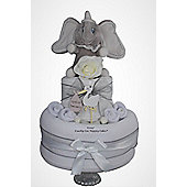Unisex Dumbo elephant Baby Nappy Cake (Two Tier)