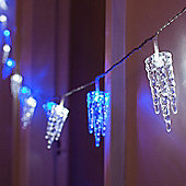 32 Blue & White LED Indoor Multi Function Icicle Lights