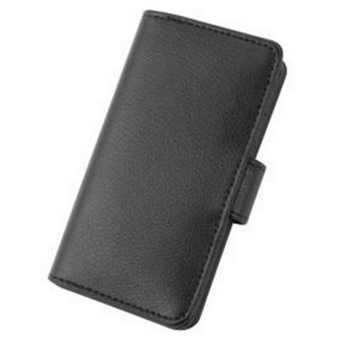 Tortoise™ Genuine Leather Folio Case iPhone 5 Black