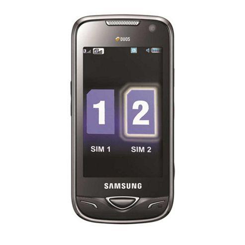 Samsung B7722 Dual-SIM Mobile Phone (Black) - SIM Free