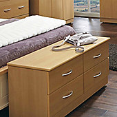 Welcome Furniture Avon 4 Drawer Bed Box - Light Oak