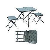 Palm Springs Folding Picnic Set W/ Table & Seats Green