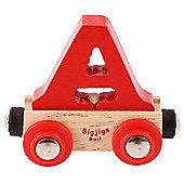 Bigjigs Rail Rail Name Letter A (Red)