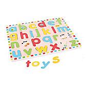 Bigjigs Toys BJ757 Inset Puzzle Lowercase Alphabet