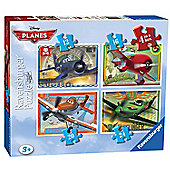 Puzzle - Disney Planes Puzzle - 4 in A Box - Ravensburger