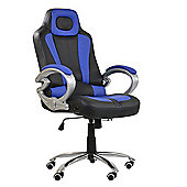 Pro Racing Black and Blue Office Chair