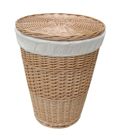 Wicker Valley Single Round Laundry Basket