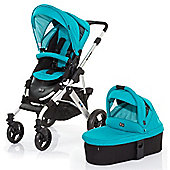 ABC Design Mamba 3 in 1 Pushchair & Carrycot (Silver/Coral)