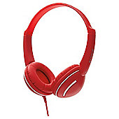 Groov-e GV897 Streetz Stereo Headphones with Volume Control Red