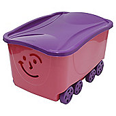 Smiley Face Lidded Trunk Pink/ Purple