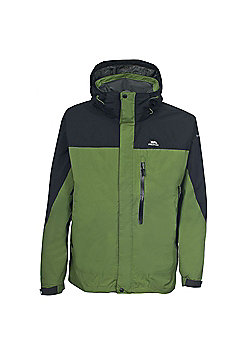 Trespass Mens Tafelberg Waterproof Walking Coat - Green