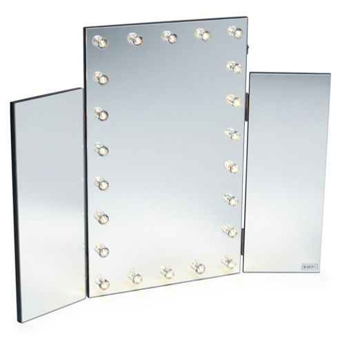 Buy beautify tri fold 3 way vanity dressing table mirror for Dressing table with lights