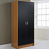 Elements Halden 2 Door Wardrobe - Black