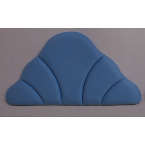 Amani Shell Upholstered Headboard in Velour Cornflower - Double