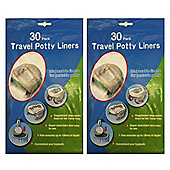 Disposable Travel Potty Liner 60 pack