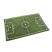 Homescapes Cotton Tufted Washable Football Pitch Kids Rug