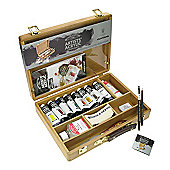 W&N Artist Acrylic Colour Bamboo Box Set