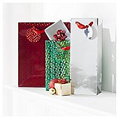 Tesco Traditional Christmas Gift Bags, 3 Pack