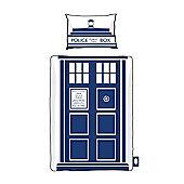 Doctor Who Tardis Single Duvet and Pillowcase Set