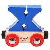 Bigjigs Rail Rail Name Letter X (Dark Blue)