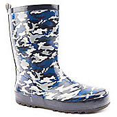 Brantano Boys Camo Black Wellington Boots