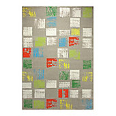 Esprit Cuadros Taupe Woven Rug - 133 cm x 200 cm (4 ft 4 in x 6 ft 7 in)